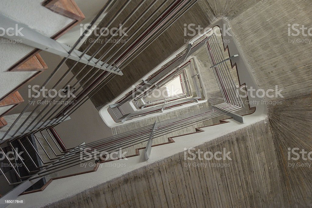 Staircase Bottom Up royalty-free stock photo