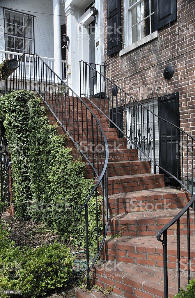 Staircase, Charleston, South Carolina royalty-free stock photo