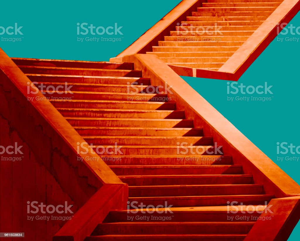Staircase Construction Study No. 2: Glenwoos Springs, CO stock photo