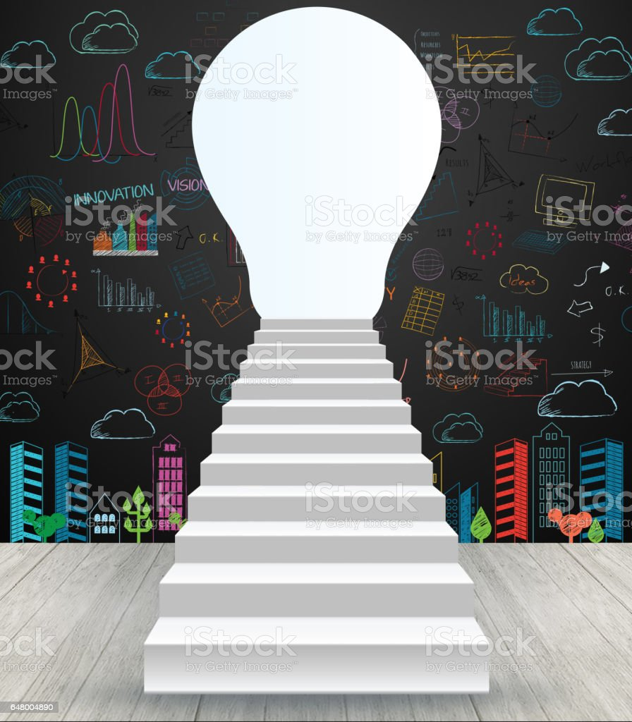 Photo libre de droit de Escalier Aller À La Serrure De Porte Avec Le Dessin  Idée Créative banque d'images et plus d'images libres de droit de Affaires