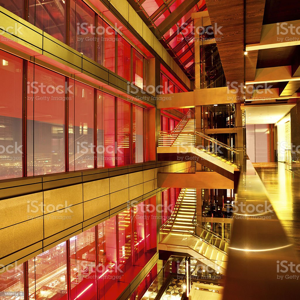 Staircase in a Skyscraper royalty-free stock photo