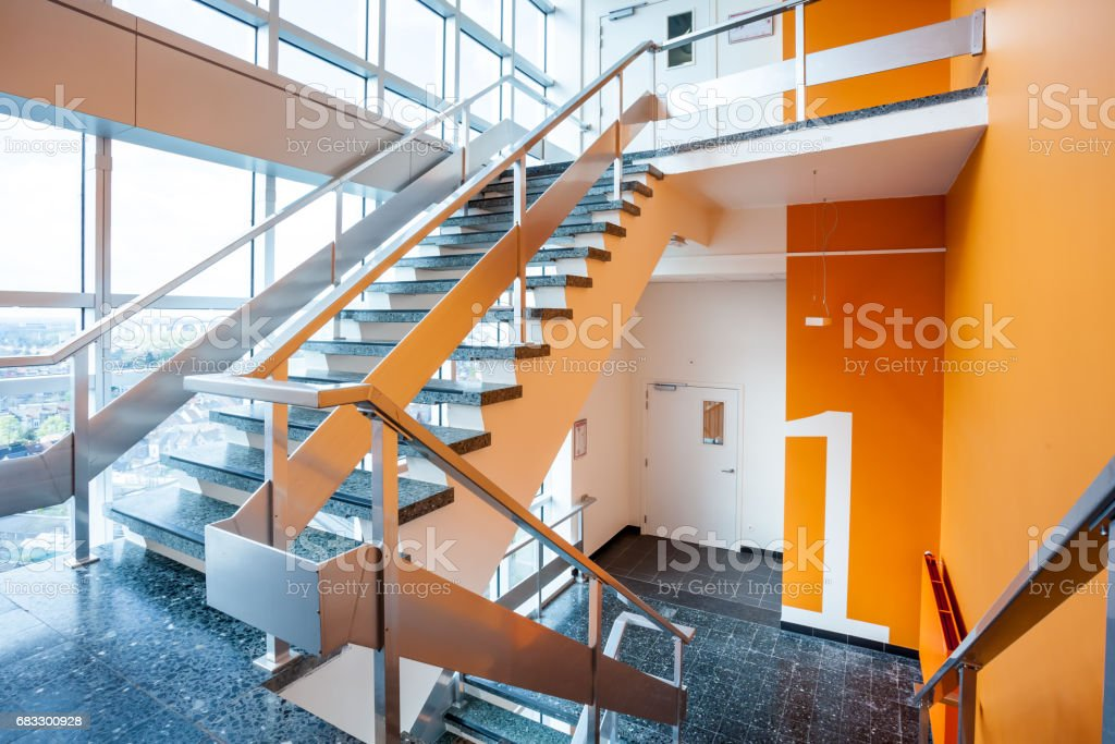 staircase in an building zbiór zdjęć royalty-free