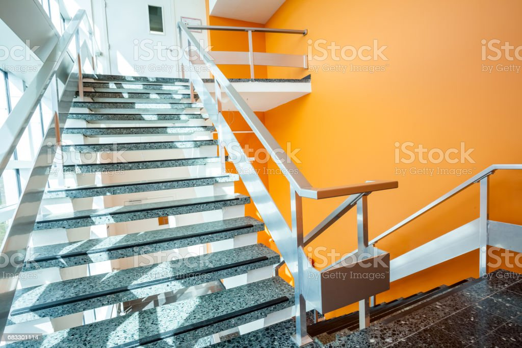 staircase in an building foto stock royalty-free