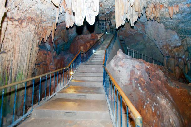 staircase in Bellamar cave. Matanzas, Cuba