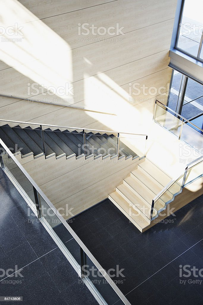 Staircase in modern office building royalty-free stock photo