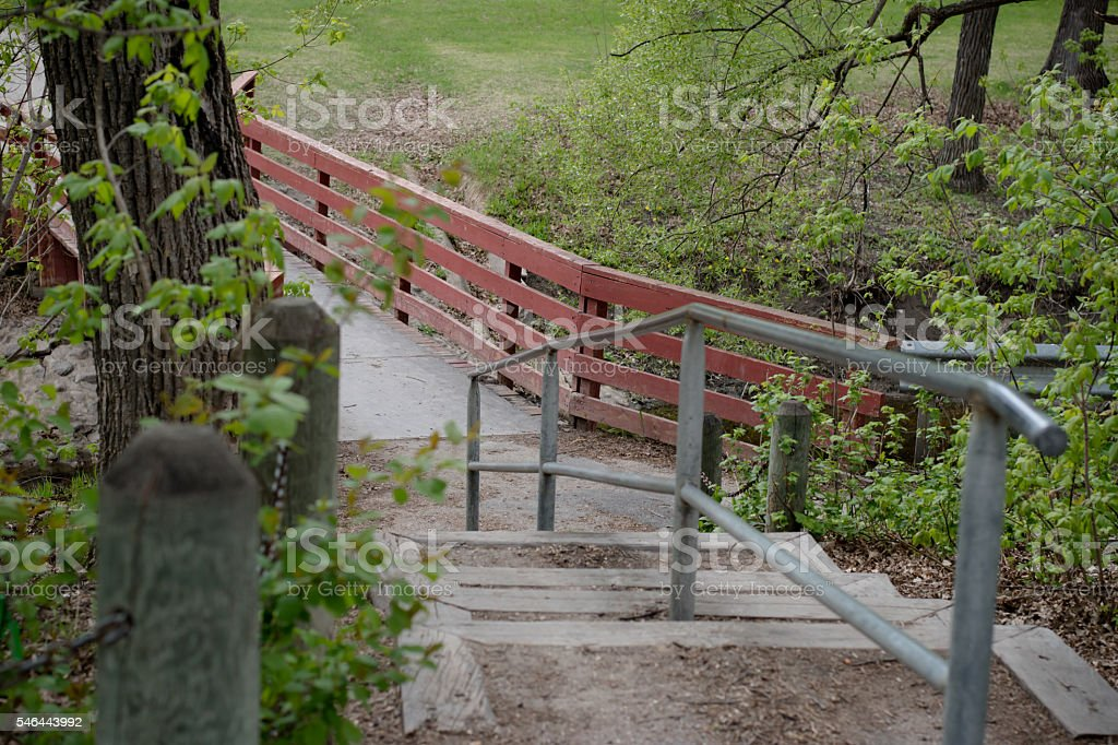 Staircase in nature path stock photo
