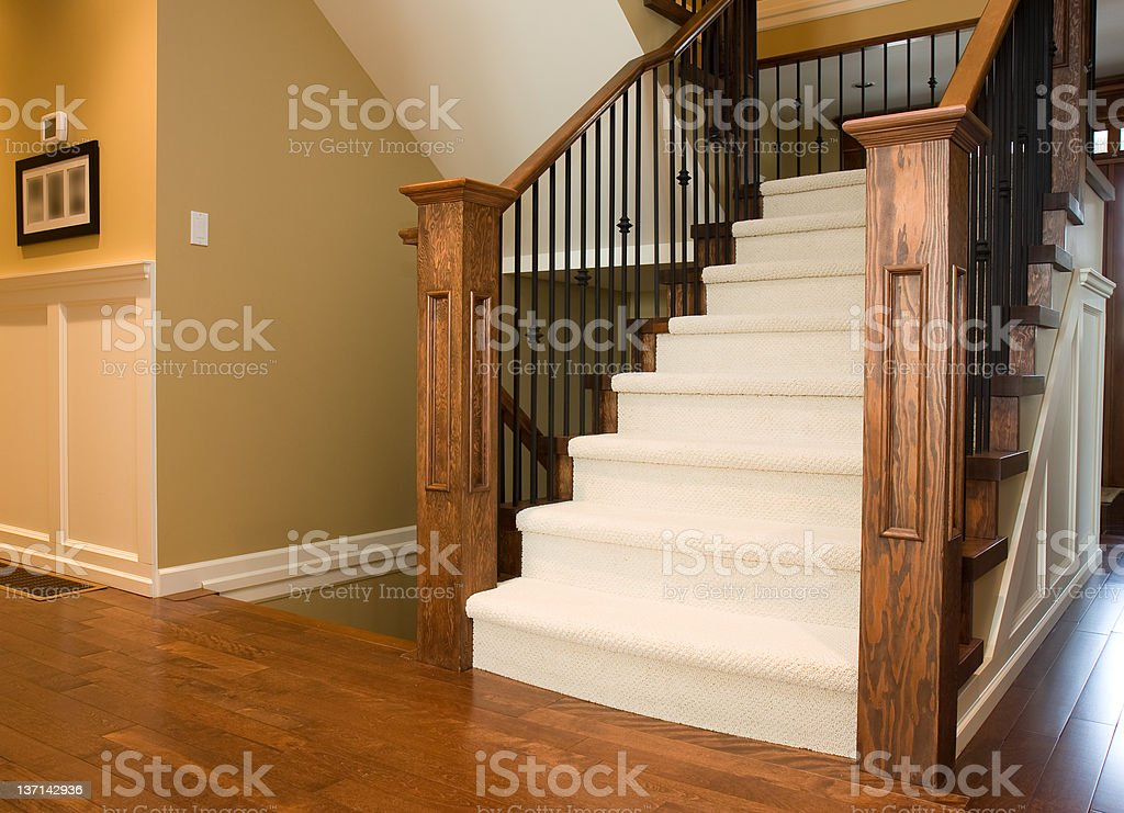 Staircase in New Home stock photo