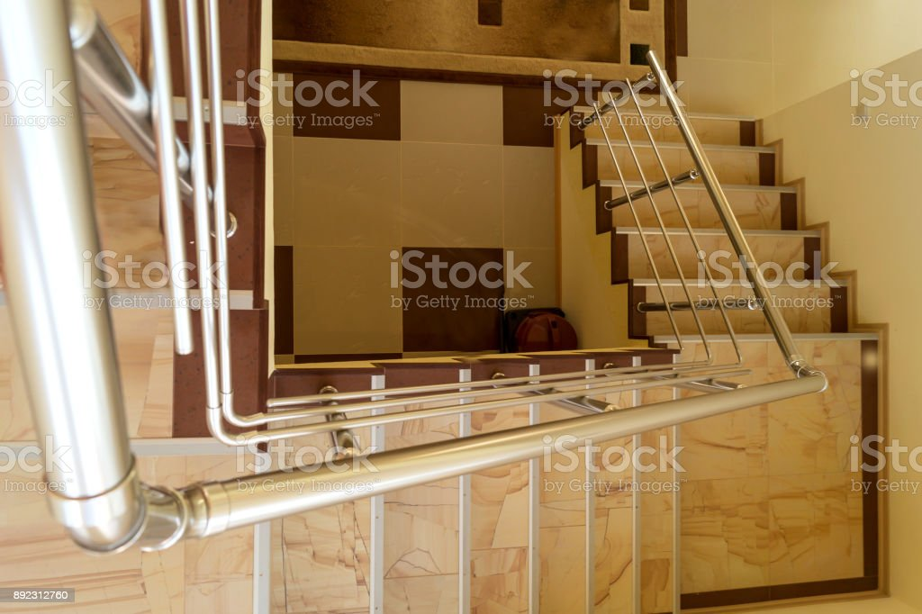 Staircase In The Private House View From Above Stock Photo Istock