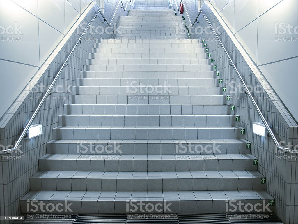 Staircase in underground passage royalty-free stock photo