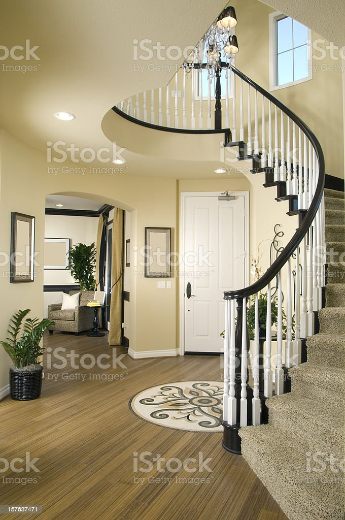 Staircase Interior Home Design royalty-free stock photo