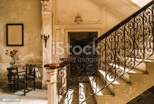 Staircase of a Colonial Villa in Havana, Cuba
