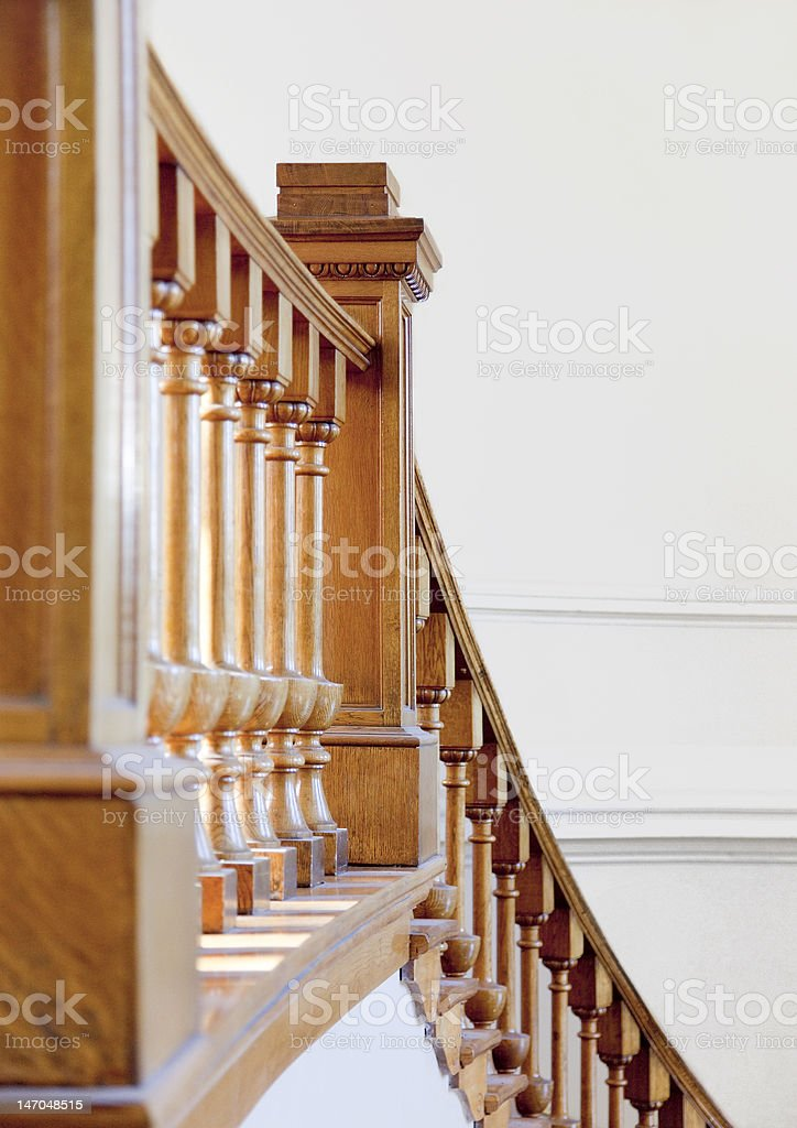Staircase of Historical Library stock photo