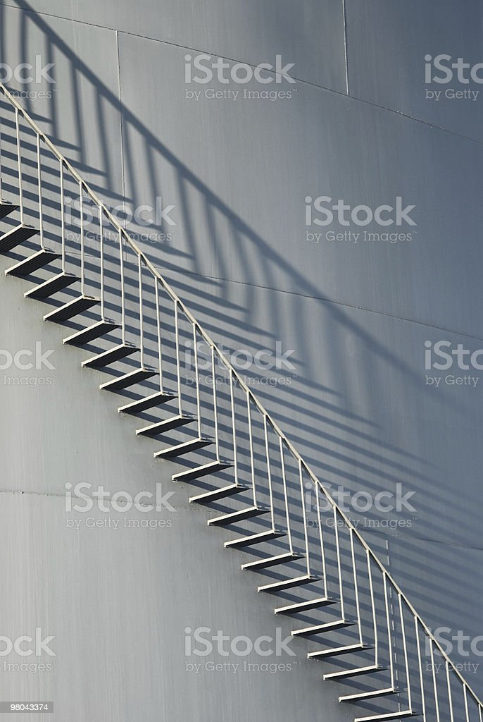 Staircase on fuel tank royalty-free stock photo