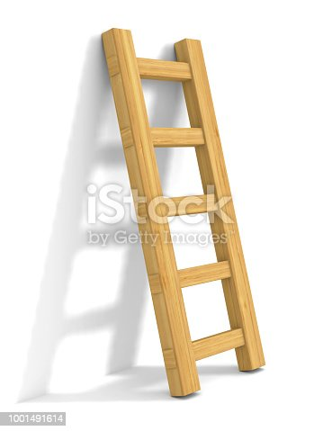 staircase on white background. Isolated 3D illustration