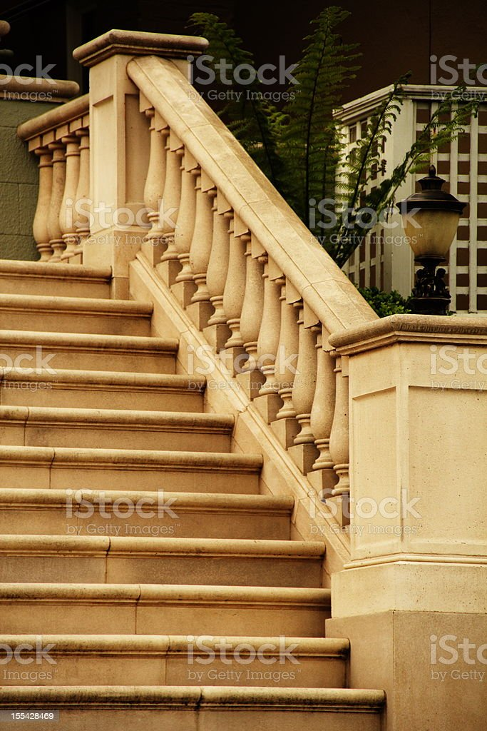 Staircase Ornate Steps Entrance royalty-free stock photo