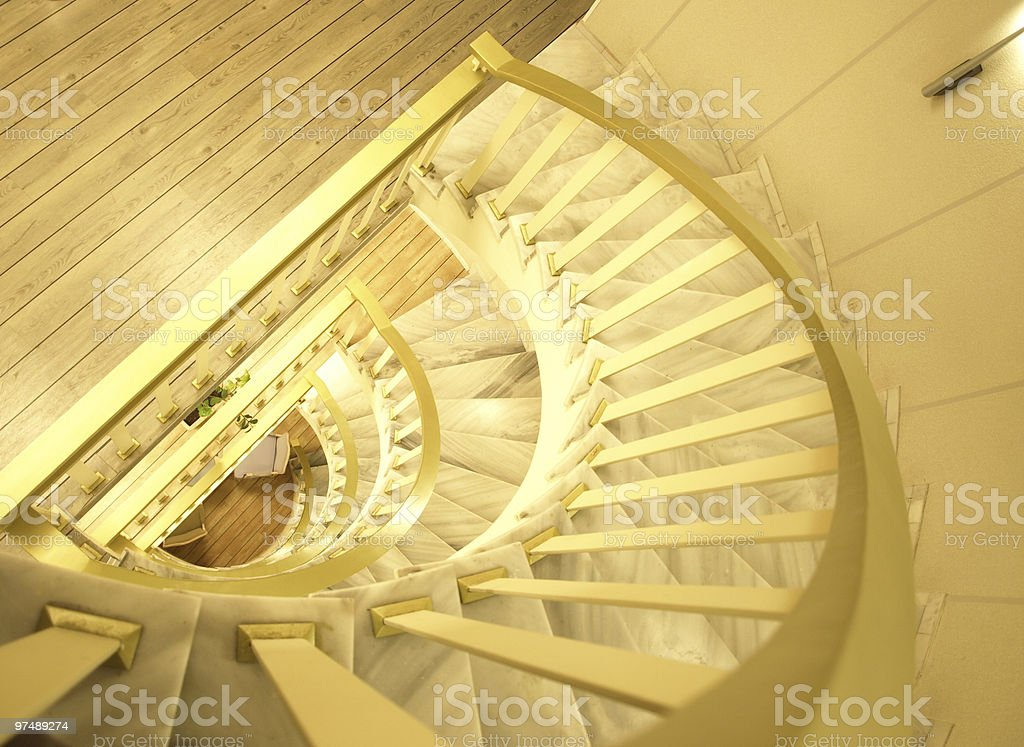 Staircase perspective royalty-free stock photo