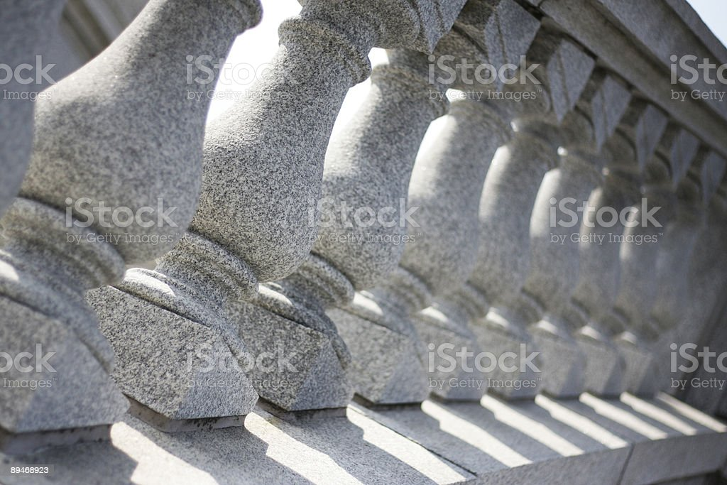 Staircase Pillars royalty-free stock photo