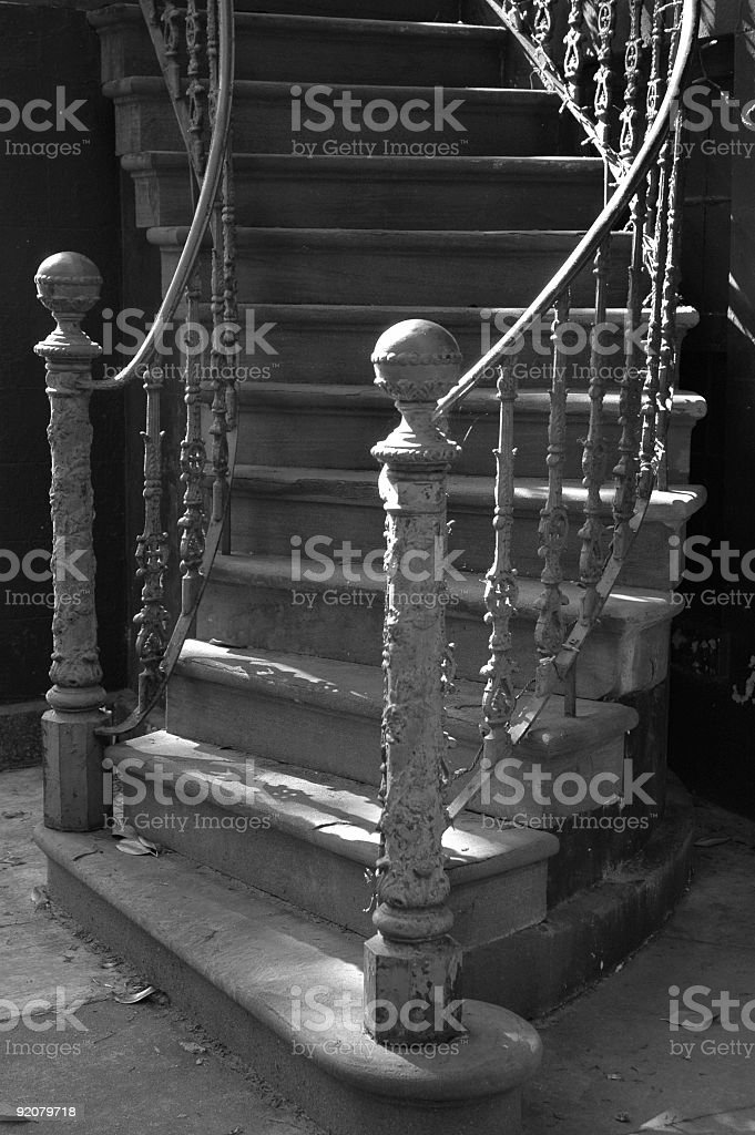 Staircase, Savannah, Georgia, USA. stock photo