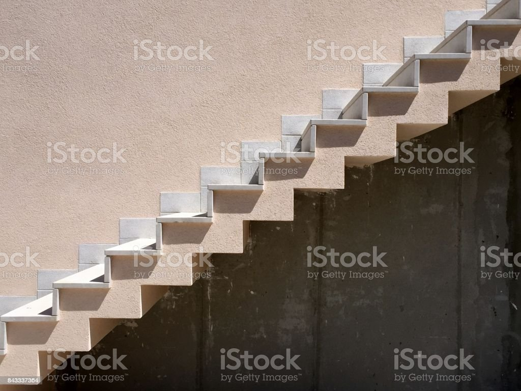 Staircase side view stock photo