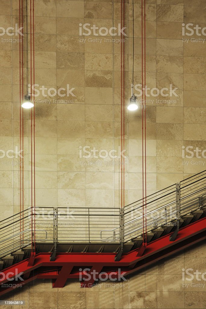 Staircase Steps Architecture Tile Wall royalty-free stock photo