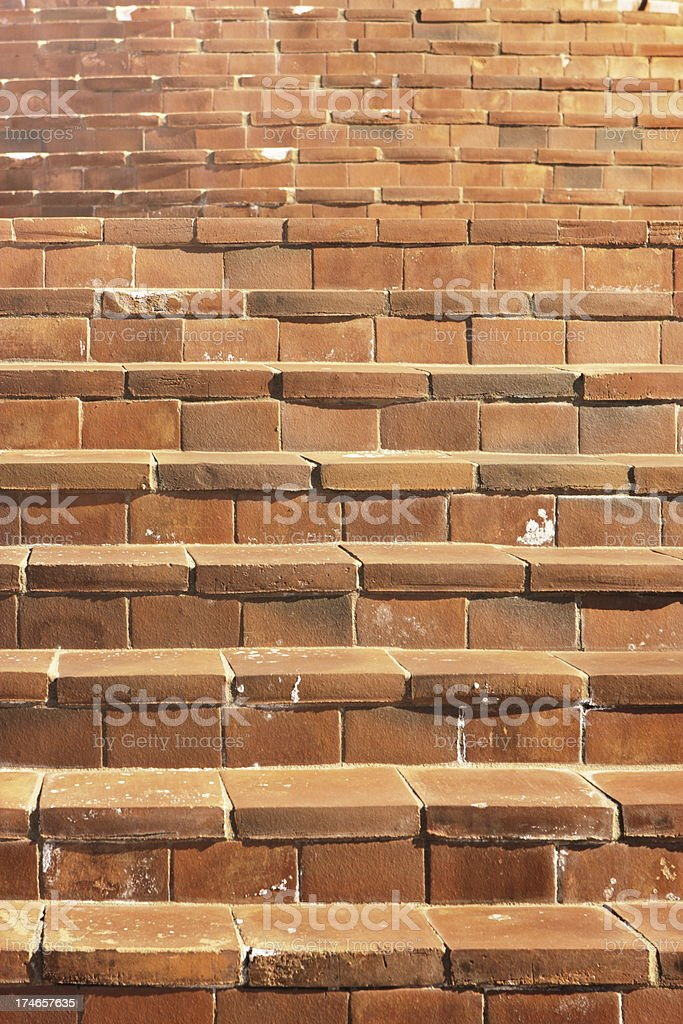 Staircase Steps Terracotta Clay Tile Pattern stock photo
