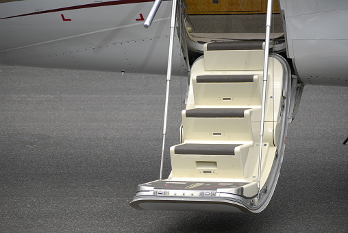 staircase to a plane, close-up
