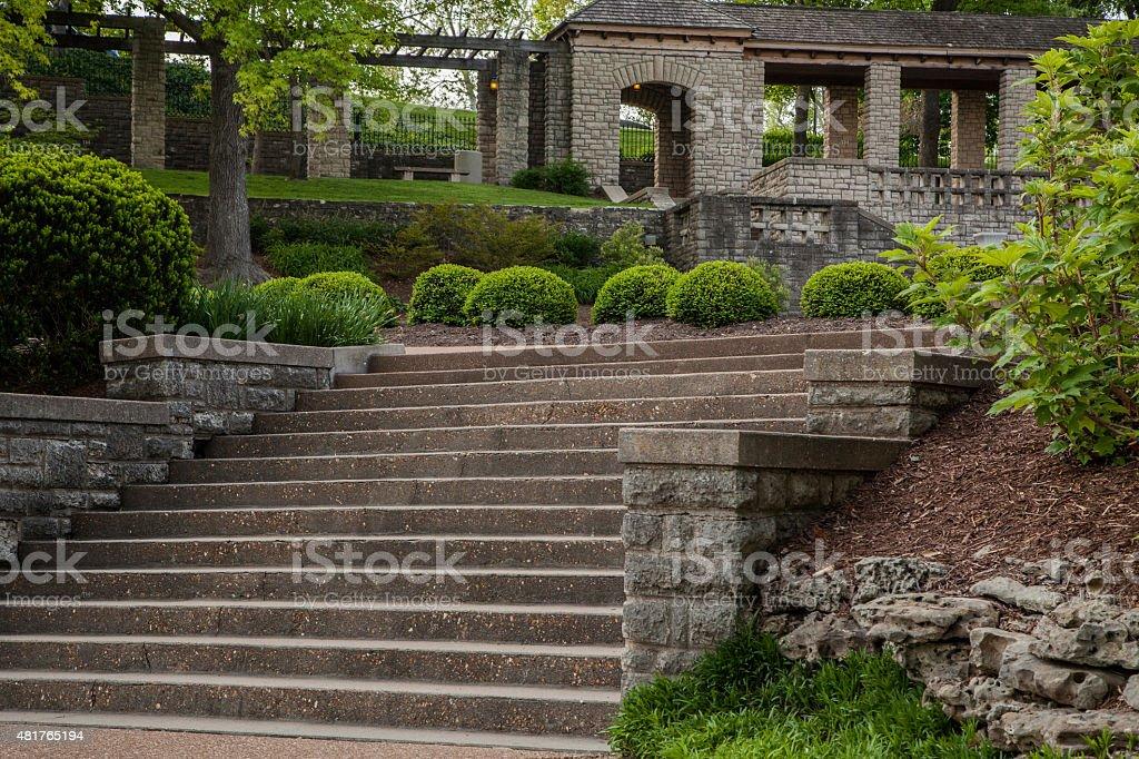 Photo libre de droit de Escalier Dans Le Jardin Du Gouverneur banque ...