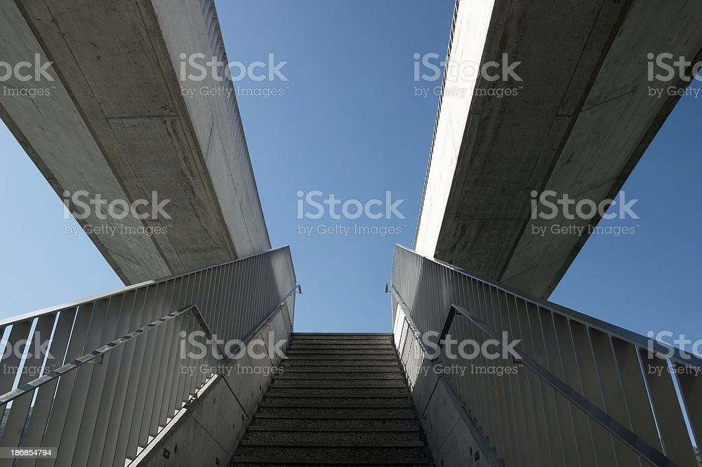 Staircase to the sky royalty-free stock photo