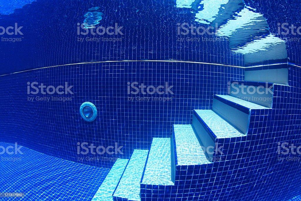 Staircase underwater stock photo
