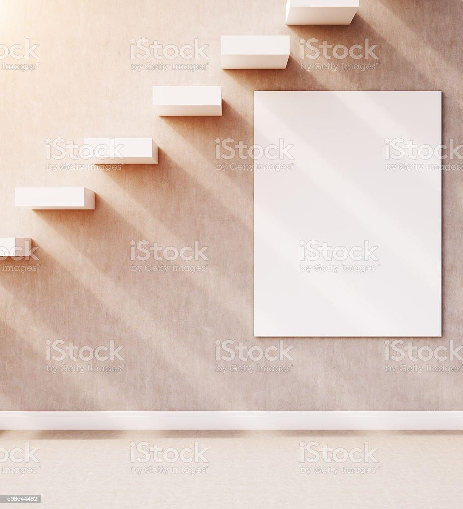 Staircase with poster photo libre de droits