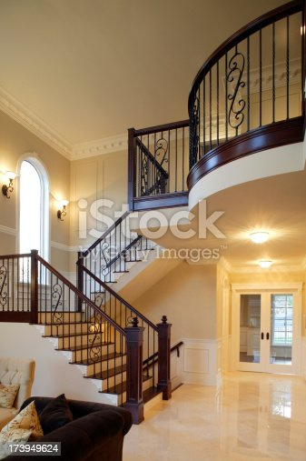 indoors luxury house stairs