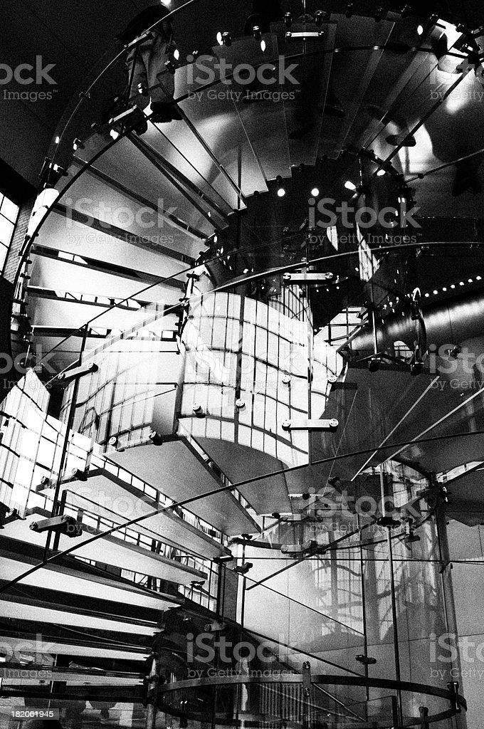 Staircase.Black und White.NYC – Foto