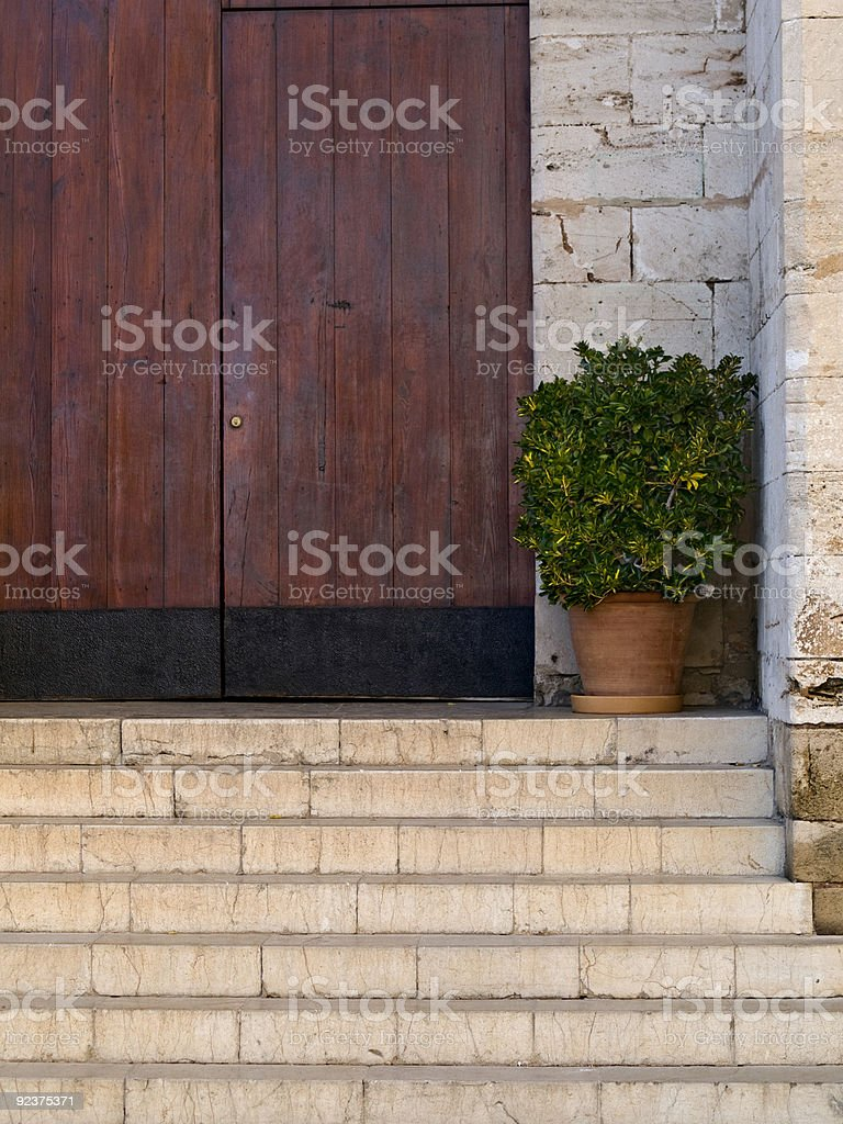 Staircases to the entrance royalty-free stock photo