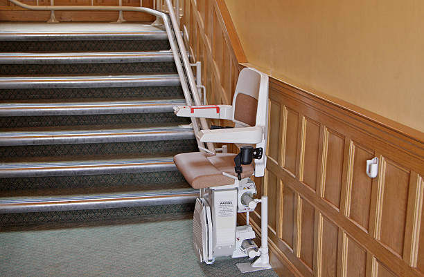 stairlift for the disabled stock photo