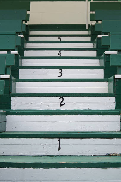 Stairs 1 2 3 4 5 stock photo