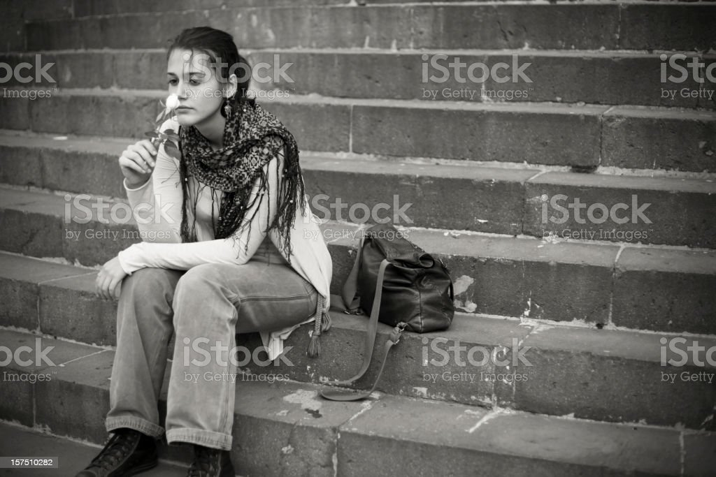 Stairs and Loneliness royalty-free stock photo