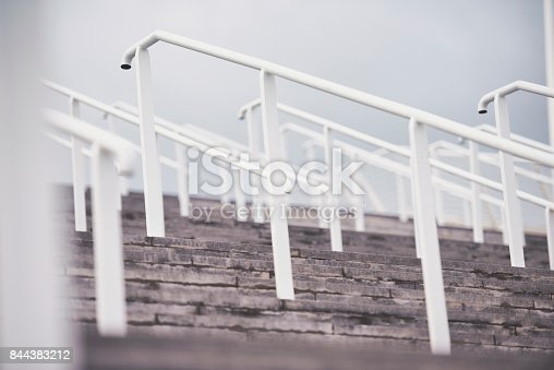istock Stairs and railing. 844383212