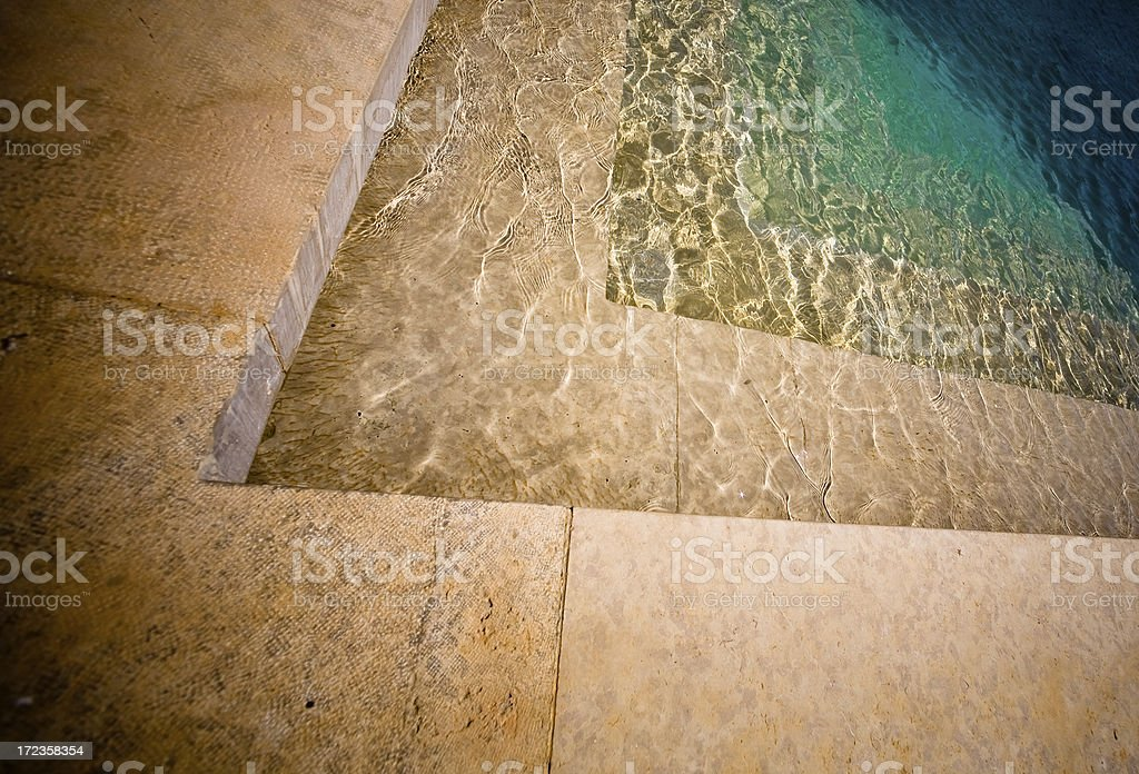 Stairs and water royalty-free stock photo