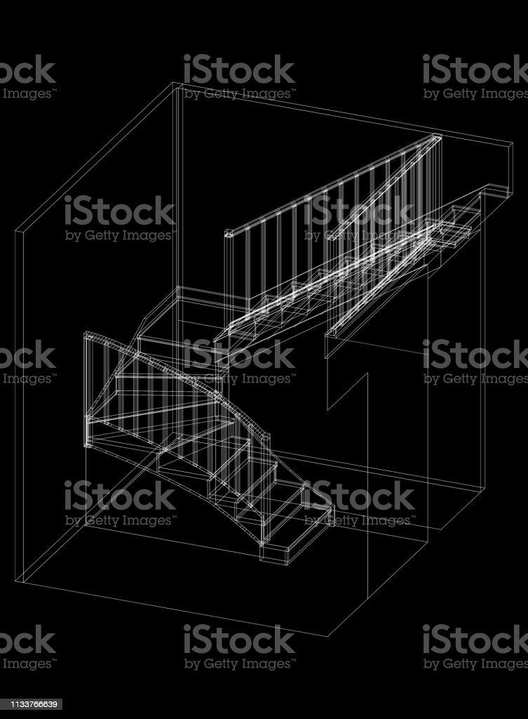 Stairs Architect Blueprint