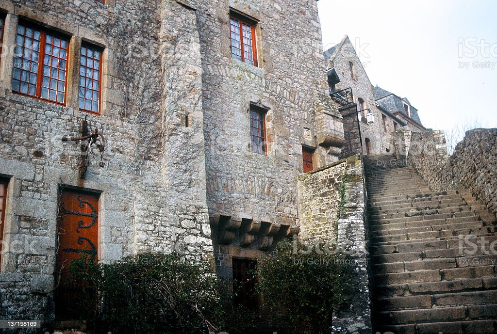Stairs at Mont St. Michel royalty-free stock photo