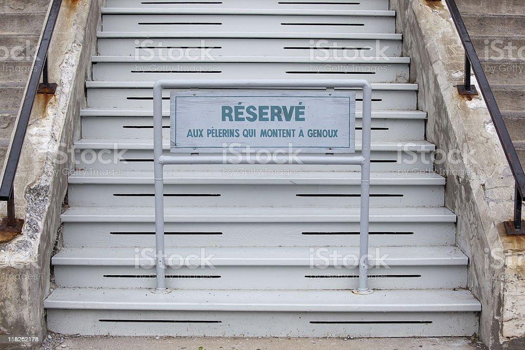 Stairs at Saint Joseph's Oratory, Oratoire St Joseph Montreal Canada - Royalty-free Basilica Stock Photo