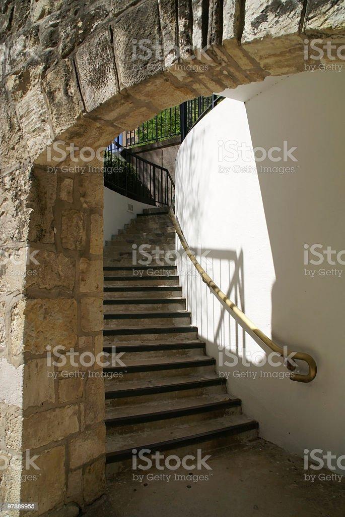 Stairs at San Antonio River Walk royalty-free stock photo