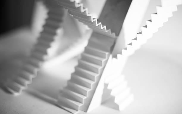 Escadas opção impassable caminho - foto de acervo