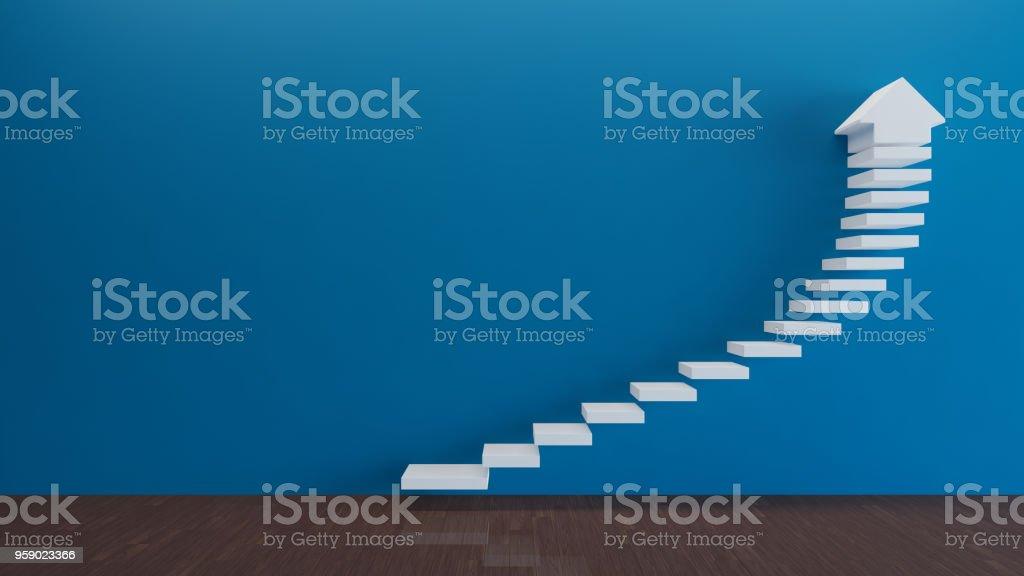 Concepto de escaleras foto de stock libre de derechos