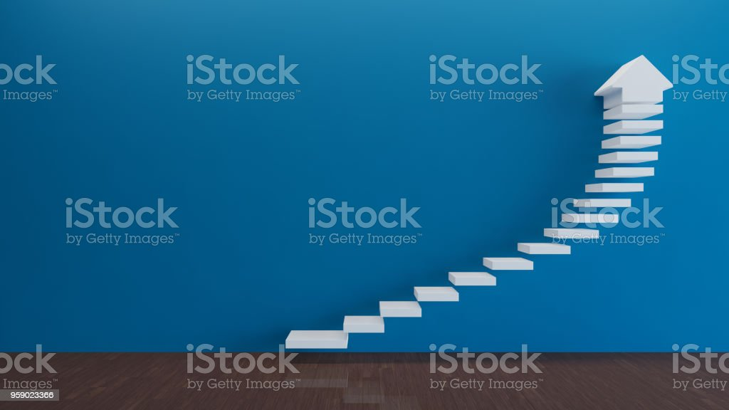 Stairs concept stock photo