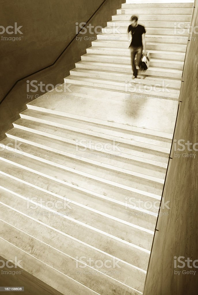 Stairs down royalty-free stock photo