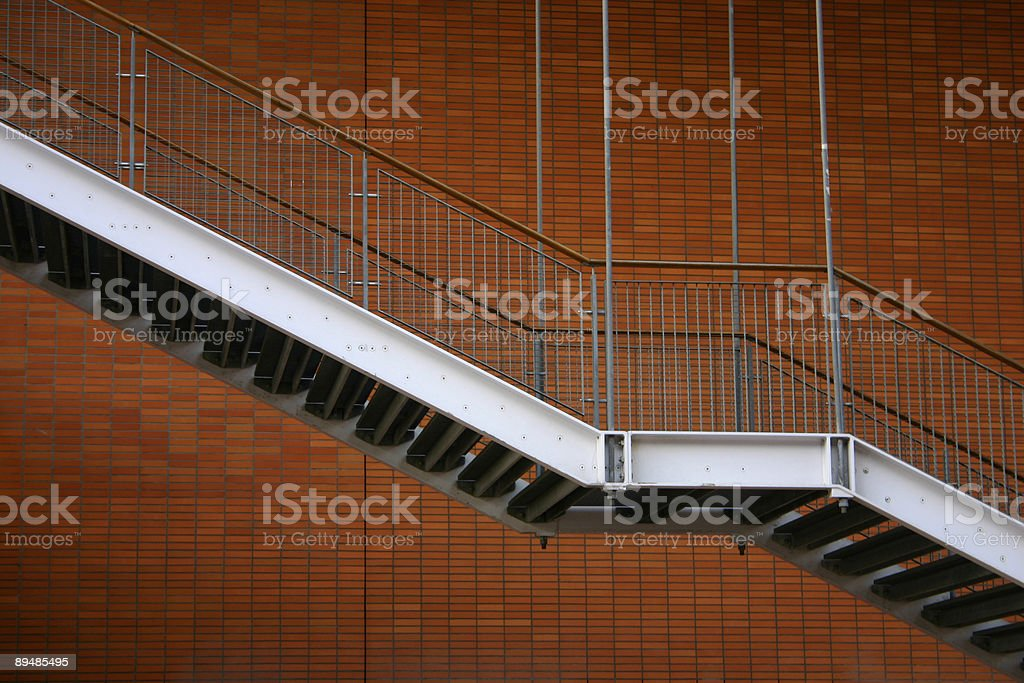 Stairs fire escape rotterdam royalty-free stock photo
