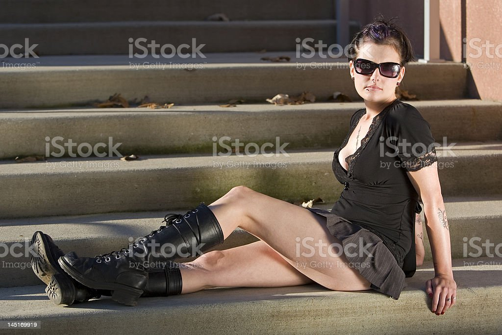 Stairs Girl 8 royalty-free stock photo