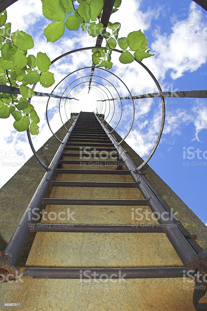 stairs going up to heaven royalty-free stock photo