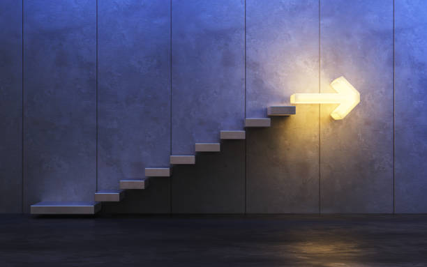 stairs going  upward, 3d rendering stairs going  upward, 3d rendering the way forward stock pictures, royalty-free photos & images